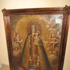 Arte: ÓLEO SOBRE LIENZO VIRGEN DE LOS DESAMPARADOS XIX. Lote 118822071