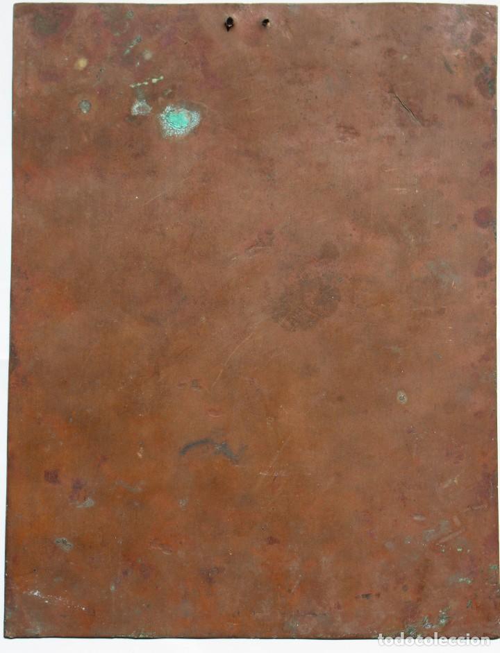 Arte: ÓLEO SOBRE COBRE- VIRGEN CON NIÑO. S XVIII 17,5 cm x 23 cm - Foto 5 - 118894751