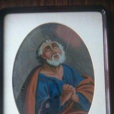 Arte: PINTURA SOBRE VIDRIO SIGLO XVIII-XIX. LÁGRIMAS DE SAN PEDRO. Lote 118916119