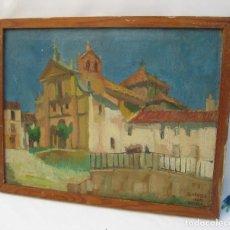 Arte: PINTURA ANTIGUA OLEO BLAZQUEZ 1967 ENGUERA EL CONVENTO DE LOS CARMELITAS DESCALZOS. Lote 118946371