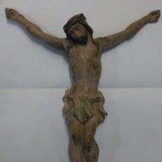 Arte: CRISTO MADERA PINO ANTIGUO. Lote 118967335