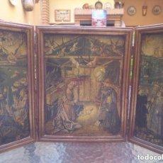Arte: ANTIQUÌSIMO TRIPTICO DE LA ANUNCIACIÒN, NACIMIENTO Y ADORACIÒN DE LOS REYES MAGOS. Lote 119001919