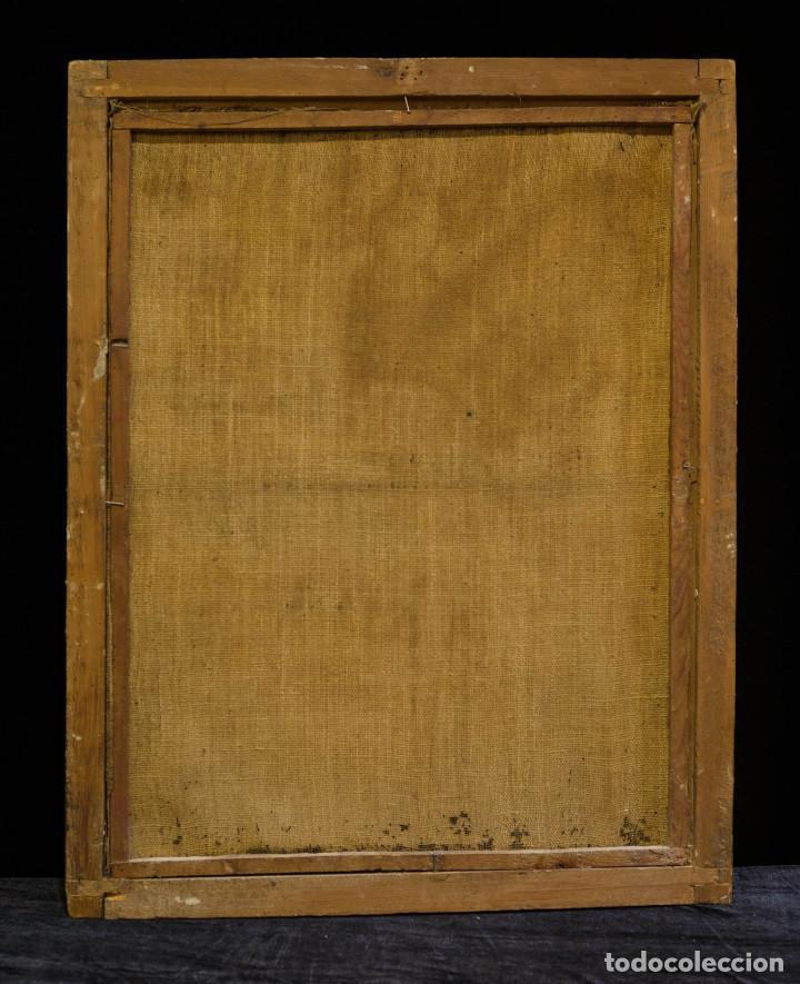 Arte: San Miguel Arcángel. Óleo sobre lienzo. Escuela colonial, s. XVII. - Foto 4 - 119050971