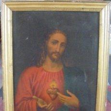 Arte: CUADRO. CORAZON DE JESUS. MEDIDAS: 70 X 90 CM. VER FOTOS. Lote 119079127