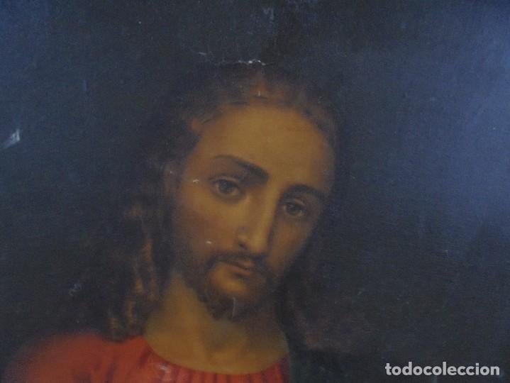 Arte: CUADRO. CORAZON DE JESUS. MEDIDAS: 70 X 90 CM. VER FOTOS - Foto 2 - 119079127