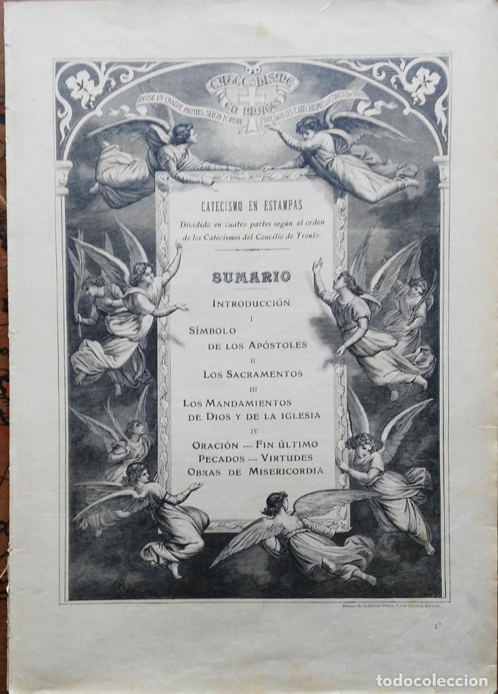 62 GRABADOS DEL CATECISMO EN ESTAMPAS - PARIS 1909 - CASA DE LA BUENA PRENSA (Arte - Arte Religioso - Grabados)