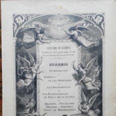 Arte: 62 GRABADOS DEL CATECISMO EN ESTAMPAS - PARIS 1909 - CASA DE LA BUENA PRENSA. Lote 119124071