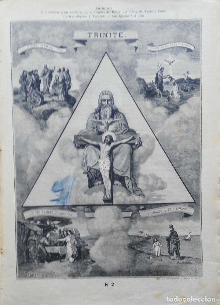 Arte: 62 GRABADOS DEL CATECISMO EN ESTAMPAS - PARIS 1909 - CASA DE LA BUENA PRENSA - Foto 2 - 119124071