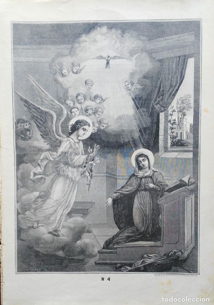Arte: 62 GRABADOS DEL CATECISMO EN ESTAMPAS - PARIS 1909 - CASA DE LA BUENA PRENSA - Foto 5 - 119124071