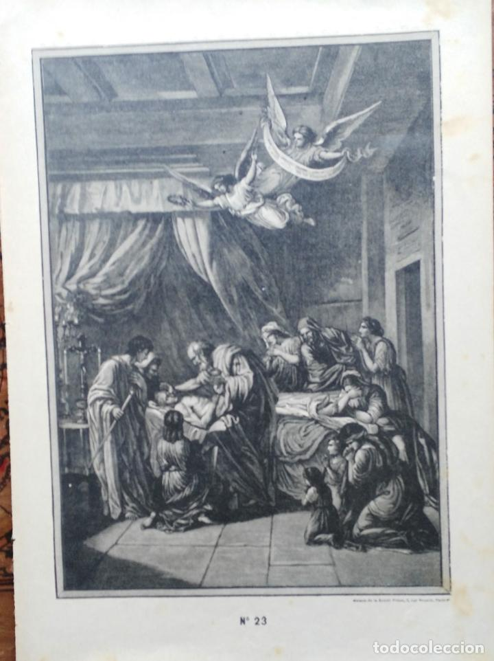 Arte: 62 GRABADOS DEL CATECISMO EN ESTAMPAS - PARIS 1909 - CASA DE LA BUENA PRENSA - Foto 9 - 119124071