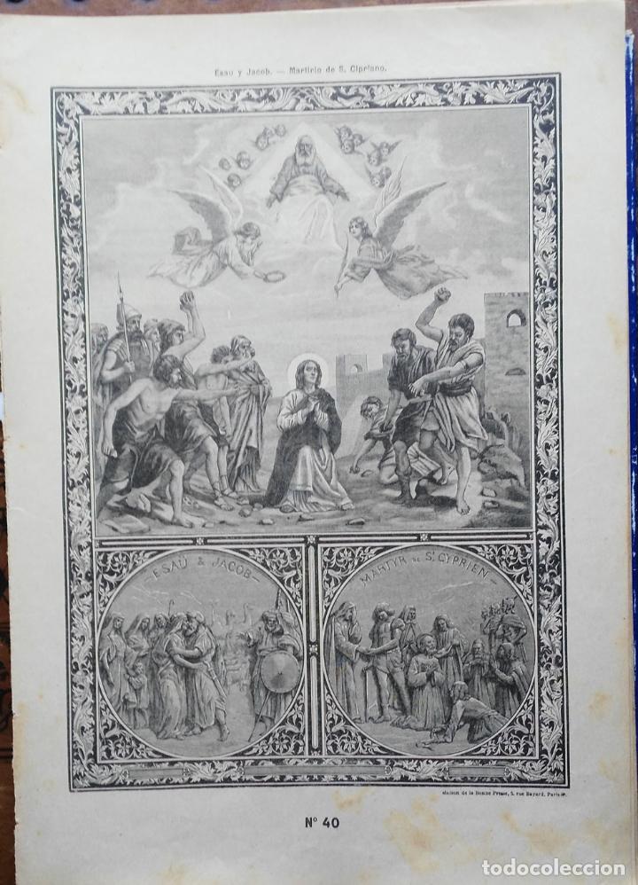 Arte: 62 GRABADOS DEL CATECISMO EN ESTAMPAS - PARIS 1909 - CASA DE LA BUENA PRENSA - Foto 10 - 119124071