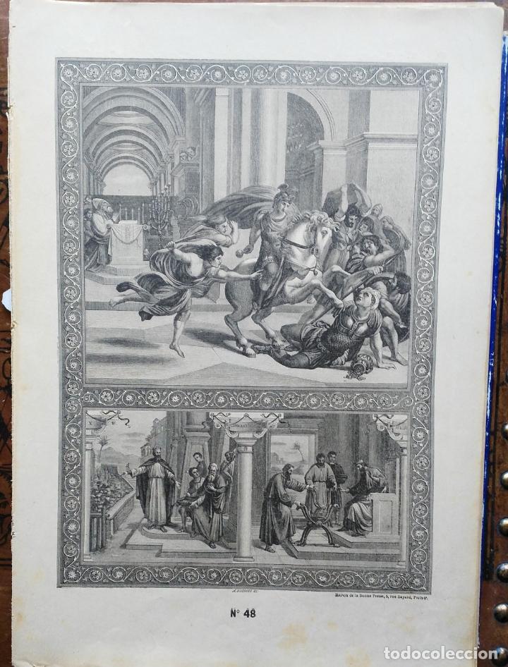 Arte: 62 GRABADOS DEL CATECISMO EN ESTAMPAS - PARIS 1909 - CASA DE LA BUENA PRENSA - Foto 11 - 119124071