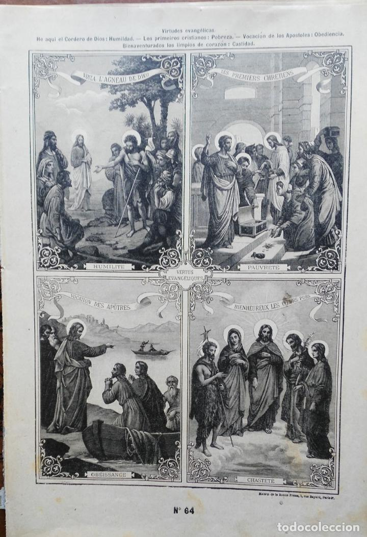 Arte: 62 GRABADOS DEL CATECISMO EN ESTAMPAS - PARIS 1909 - CASA DE LA BUENA PRENSA - Foto 12 - 119124071