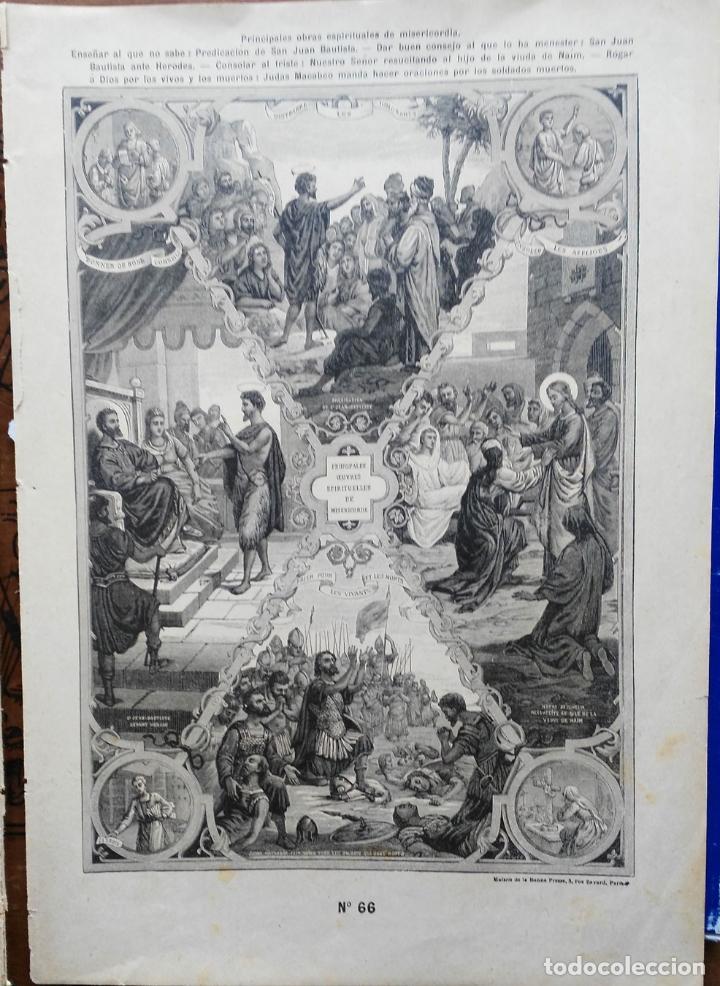 Arte: 62 GRABADOS DEL CATECISMO EN ESTAMPAS - PARIS 1909 - CASA DE LA BUENA PRENSA - Foto 13 - 119124071