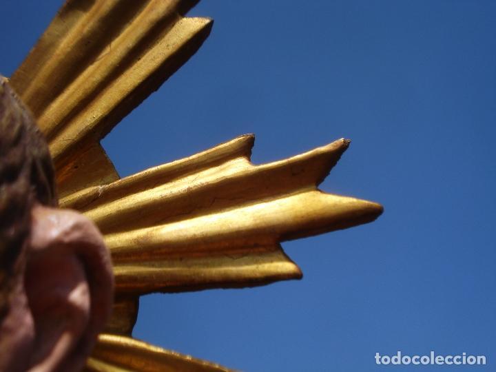 Arte: NIÑO JESUS TRIUNFANTE TALLA DE MADERA SXVIII ESCUELA CASTELLANA - Foto 5 - 119197619