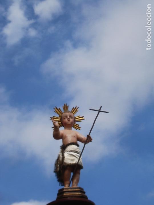 Arte: NIÑO JESUS TRIUNFANTE TALLA DE MADERA SXVIII ESCUELA CASTELLANA - Foto 9 - 119197619