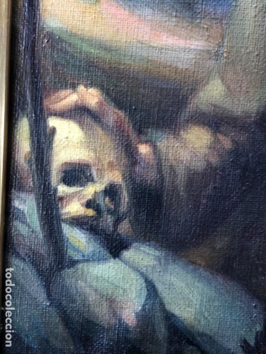 Arte: ÓLEO SOBRE TELA, SAN FRANCISCO DE ASIS, FIRMADO JUAN R. BENiTEZ, PRIMEROS SIGLO XX, ESC. SEVILLANA ? - Foto 6 - 119268575