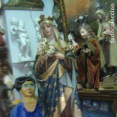 Arte: SANTA ISABEL DE HUNGRIA TALLA DE MADERA XIX. Lote 119331171