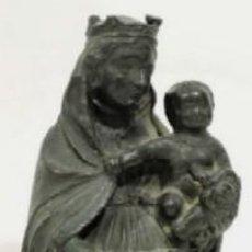 Arte: VIRGEN CON NIÑO - IMAGEN RELIGIOSA EN BRONCE - ESCUELA ESPAÑOLA SIGLO XIX. Lote 119407623