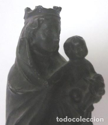 Arte: VIRGEN CON NIÑO - IMAGEN RELIGIOSA EN BRONCE - ESCUELA ESPAÑOLA SIGLO XIX - Foto 3 - 119407623