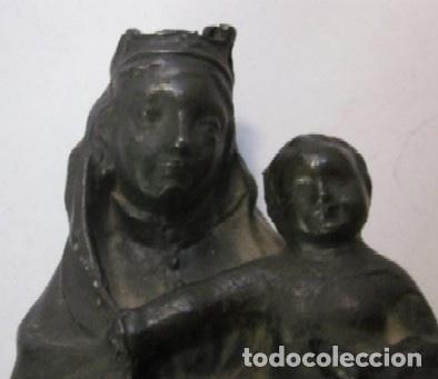 Arte: VIRGEN CON NIÑO - IMAGEN RELIGIOSA EN BRONCE - ESCUELA ESPAÑOLA SIGLO XIX - Foto 4 - 119407623