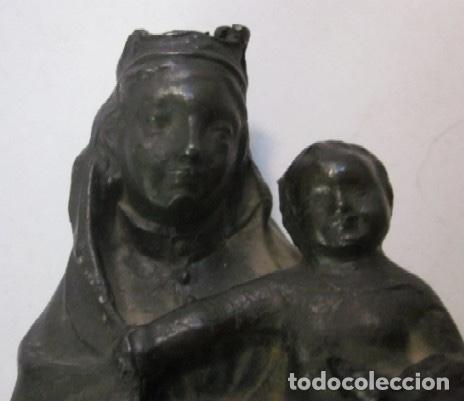 Arte: VIRGEN CON NIÑO - IMAGEN RELIGIOSA EN BRONCE - ESCUELA ESPAÑOLA SIGLO XIX - Foto 5 - 119407623