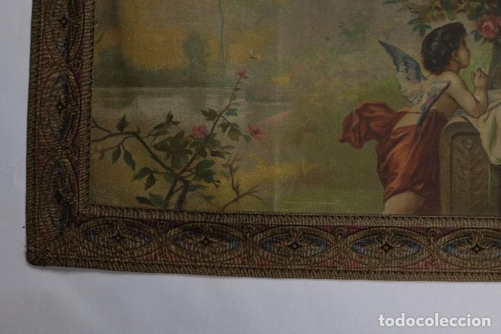 Arte: Tela religiosa pintada a mano Virgen con niño finales siglo XIX - Foto 4 - 119481879
