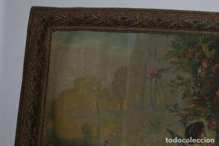 Arte: Tela religiosa pintada a mano Virgen con niño finales siglo XIX - Foto 5 - 119481879