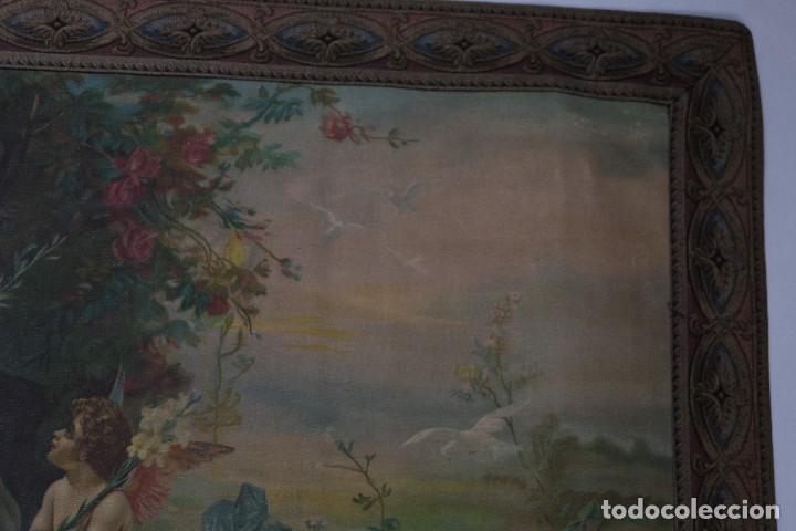 Arte: Tela religiosa pintada a mano Virgen con niño finales siglo XIX - Foto 7 - 119481879