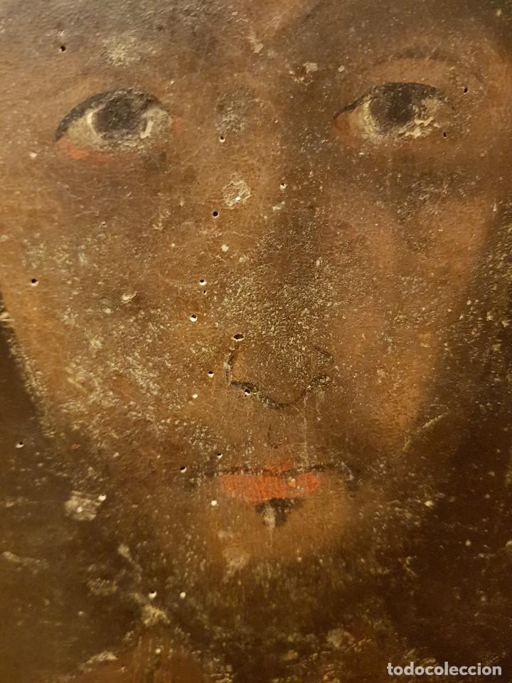 Arte: Pintura sobre cuero repujado. Cordobán de la Santa Faz. Escuela española siglo XVI - Foto 3 - 119484439