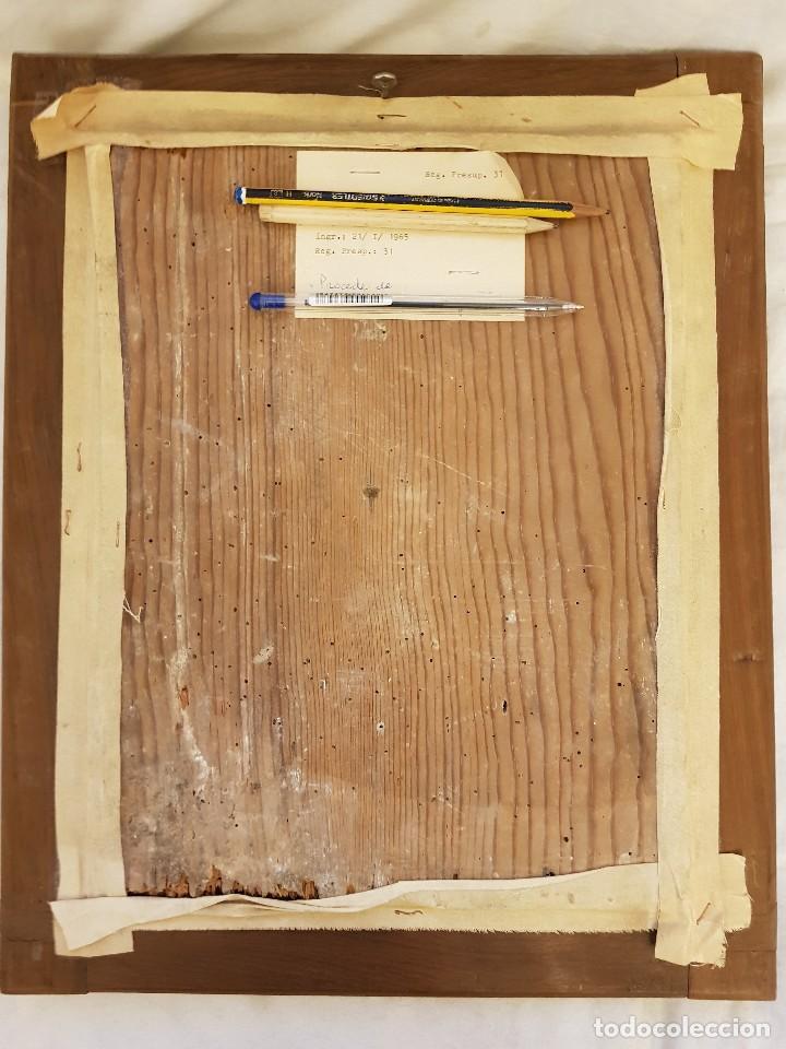 Arte: Pintura sobre cuero repujado. Cordobán de la Santa Faz. Escuela española siglo XVI - Foto 4 - 119484439