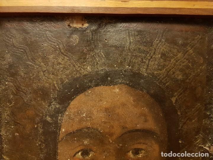Arte: Pintura sobre cuero repujado. Cordobán de la Santa Faz. Escuela española siglo XVI - Foto 6 - 119484439
