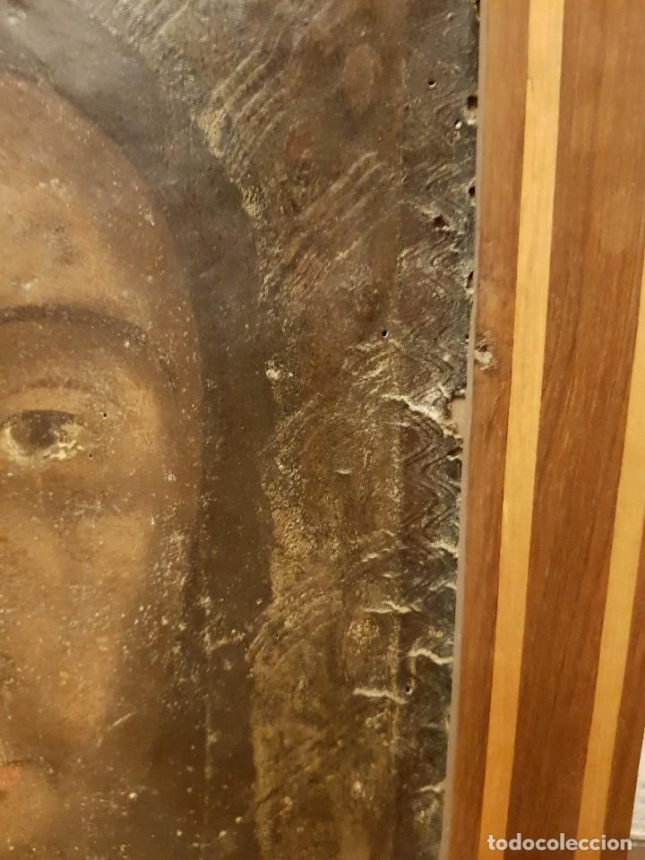 Arte: Pintura sobre cuero repujado. Cordobán de la Santa Faz. Escuela española siglo XVI - Foto 7 - 119484439