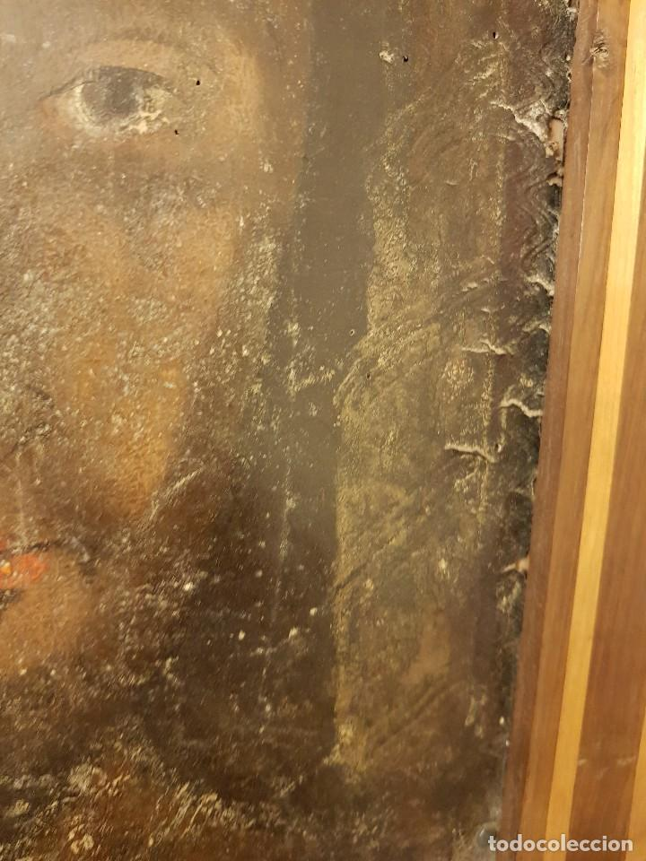 Arte: Pintura sobre cuero repujado. Cordobán de la Santa Faz. Escuela española siglo XVI - Foto 11 - 119484439