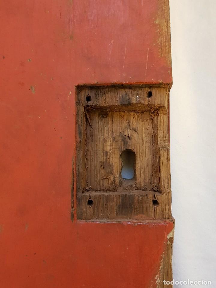Arte: Óleo sobre tabla de roble. Puerta de sagrario. Resurrección de Cristo. Escuela española. S. XVI-XVII - Foto 12 - 119485299