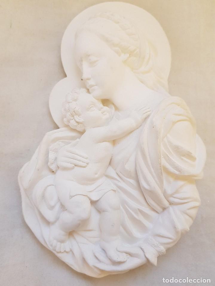 VIRGEN CON NIÑO DE ESCAYOLA (Arte - Arte Religioso - Escultura)