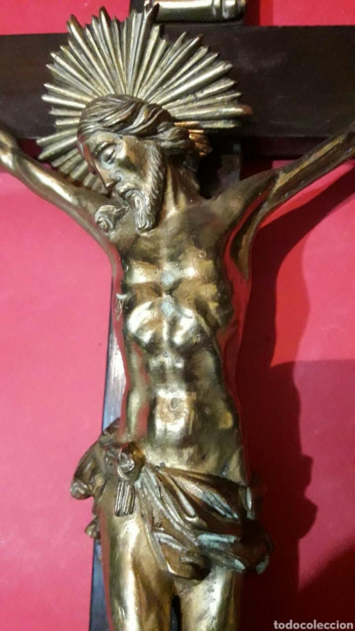 Arte: Fino Cristo en bronce dorado y cincelado. Finales siglo XVIII principios del XIX. - Foto 3 - 119492466