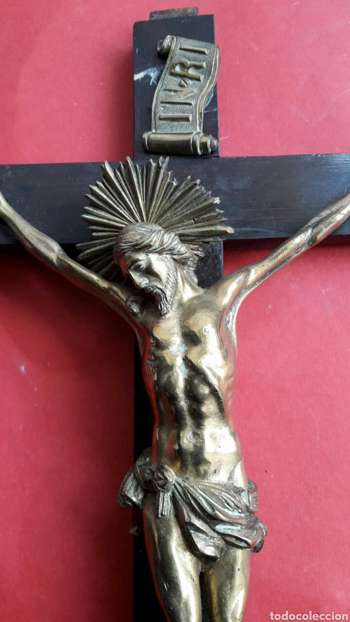 Arte: Fino Cristo en bronce dorado y cincelado. Finales siglo XVIII principios del XIX. - Foto 5 - 119492466