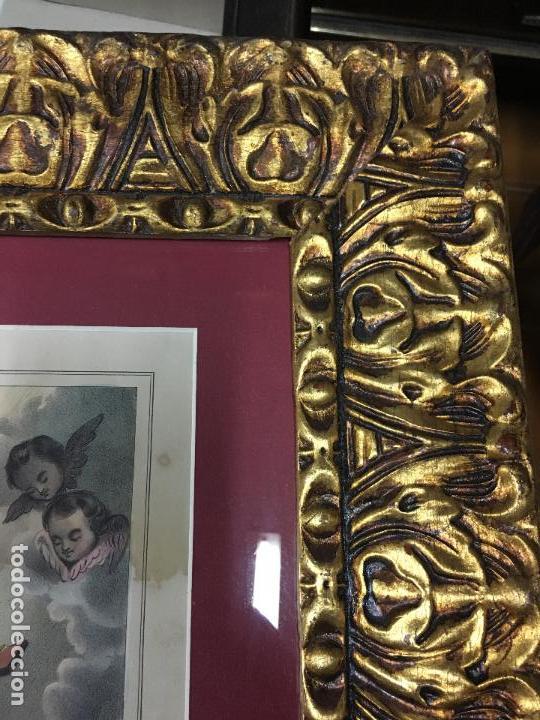Arte: ANTIGUO GRABADO COLOREADO DE SAN LUIS DE GONZAGA - MEDIDA MARCO 52,5X42,5 CM - RELIGIOSO - Foto 9 - 119559611