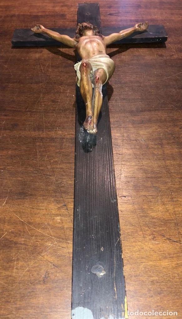 CRUCIFIJO MADERA Y PASTA 62X30X8 CMS (120€) (Arte - Arte Religioso - Escultura)
