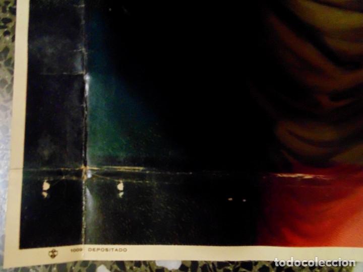 Arte: ANTIGUA LITOGRAFIA DE SIGLO XIX - SAGRADO CORAZON DE JESUS - LIT. S. DURA.VALENCIA.TAMAÑO 76X56 CMS - Foto 4 - 119756911