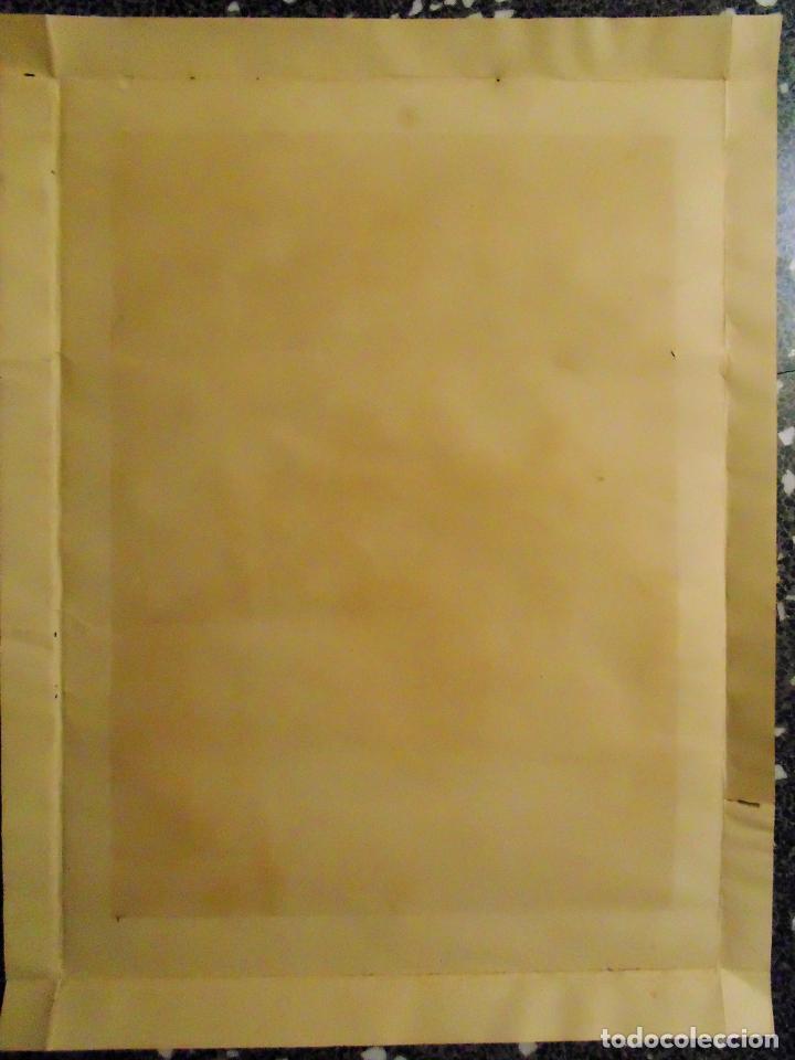 Arte: ANTIGUA LITOGRAFIA DE SIGLO XIX - SAGRADO CORAZON DE JESUS - LIT. S. DURA.VALENCIA.TAMAÑO 76X56 CMS - Foto 2 - 119756911