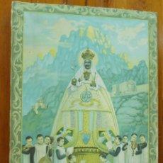 Arte: MUY BONITO Y ANTIGUO CUADRO DE LA VIRGEN DE MONSERRAT - OLEOGRAFIA SOBRE LIENZO S XIX -RARO. Lote 119888215