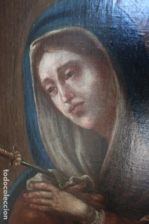 Oleo Religioso Del Pintor Canario Juan De Miran Comprar Pintura