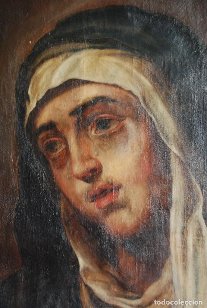 PINTURA ANTIGUA DOLOROSA S.XVIII (Arte - Arte Religioso - Pintura Religiosa - Oleo)