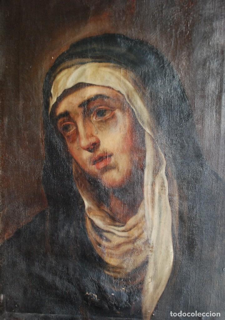 Arte: PINTURA ANTIGUA DOLOROSA S.XVIII - Foto 3 - 120098935