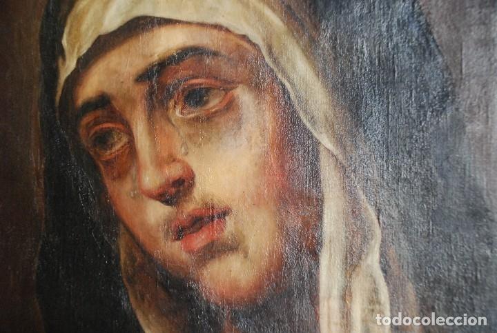Arte: PINTURA ANTIGUA DOLOROSA S.XVIII - Foto 4 - 120098935