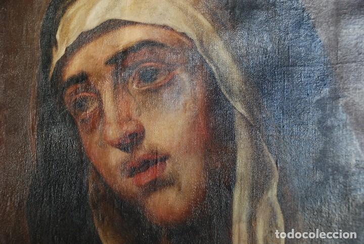 Arte: PINTURA ANTIGUA DOLOROSA S.XVIII - Foto 5 - 120098935