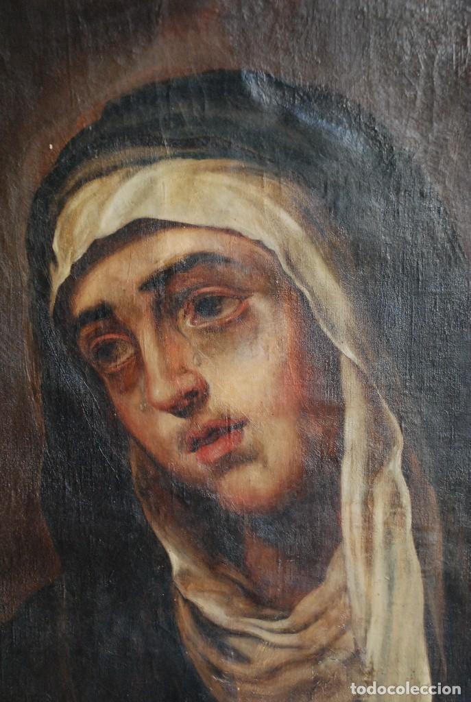Arte: PINTURA ANTIGUA DOLOROSA S.XVIII - Foto 7 - 120098935