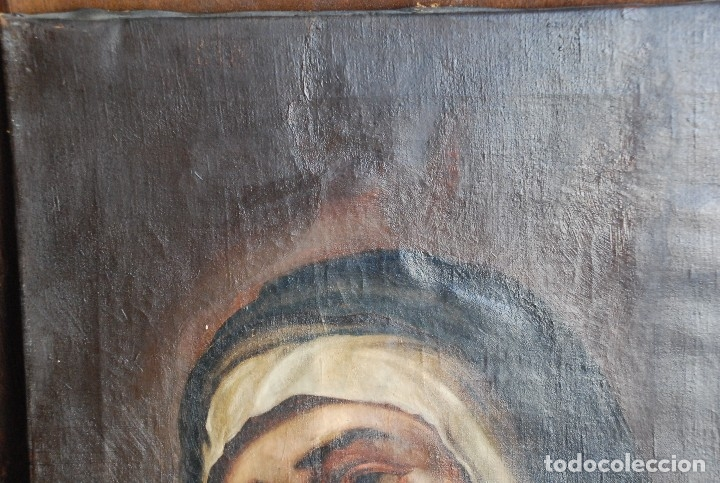 Arte: PINTURA ANTIGUA DOLOROSA S.XVIII - Foto 9 - 120098935